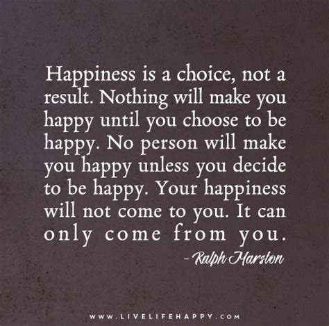 happiness   choice   result  life happy
