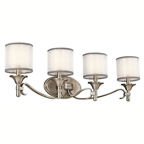 kichler bathroom lighting fixtures kichler antique pewter four light bath fixture 1895