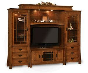 amish modesto tv entertainment center solid wood wall unit