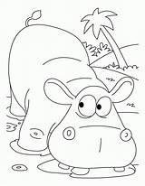 Hippo Coloring Pages Cartoon Hippopotamus Printable Colour Colouringpage Colouring Clip Library Clipart Popular sketch template