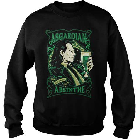 asgardian absinthe loki marvel  shirt hoodie