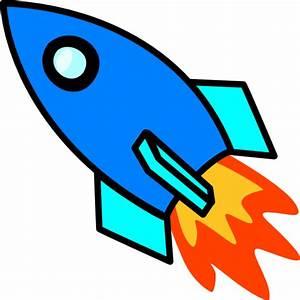 Blue Rocket Clip Art at Clker.com - vector clip art online ...