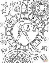 Zodiac Coloring Libra Sign Pages Signs Colouring Printable Adult Aries Star Signo Virgo Witch Books Mandala Printables Astrological Mandalas Yahoo sketch template