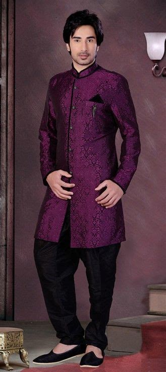silk indowestern dress  purple  violet  stone