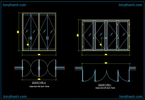 Door Cad & Fire Rated Double Leaf Door Dwg