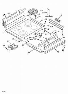 Cooktop Parts Diagram  U0026 Parts List For Model Kera807pss02