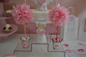 Decoration Pour Bapteme Fille : decoration pour gateau de bapteme arts culinaires magiques ~ Mglfilm.com Idées de Décoration