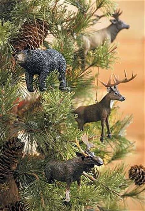 love these ornaments rustic and woodland theme