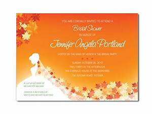 fall bride shower invitations on luulla With fall themed wedding shower invitations