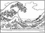 Wave Coloring Hokusai Pages Lesson Plan Tsunami Colouring Teacherspayteachers Primary Sheets Waves Lessons Japanese Drawing Printable Parodies Worksheets Natural Teaching sketch template
