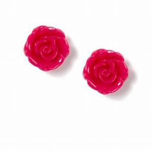 Carved Rose Stud Earrings | Claire's | Earrings ...
