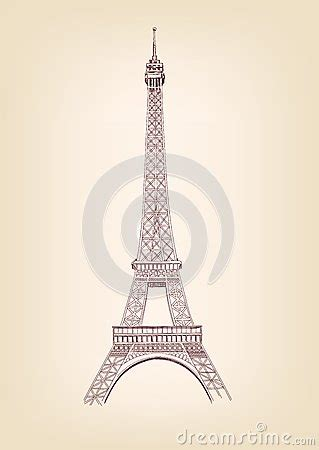 eiffel tower vector illustration royalty  stock images