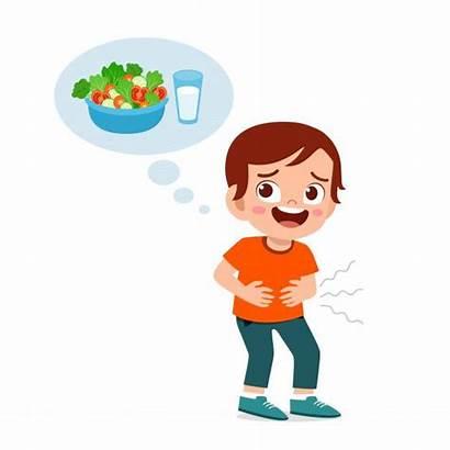 Hungry Kid Want Eat Happy Cartoon Hambriento
