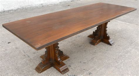 antique walnut dining table antique tudor style large oak walnut refectory dining table
