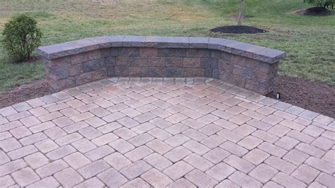 sayreville paver patio sitting wall landscaping