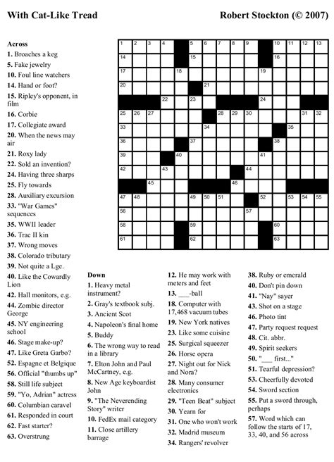 beekeeper crosswords blog archive puzzle   cat