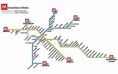 Metro Rome Roma Map Mappa