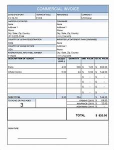 doc585650 commercial invoice template word 21 With commercial invoice sample pdf