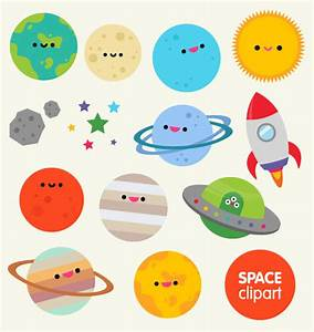 Space clipart commercial use, digital planet graphics ...