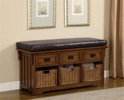 Oak Bench With Baskets/drawers 501061 From Coaster (501061) Wire Closet System With Drawers Daisy Solid Wood 6 Drawer Dresser Craftsman 3 Tool Box Black Heavy Duty Slides Lowes Brown Plastic Latches Universal Slide Mounting Jig Brackets For Full Extension Expandable Dividers Canada