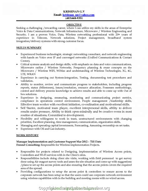 Telecom Project Manager Resume Sle by Top Telecom Project Manager Resume Sle Resume