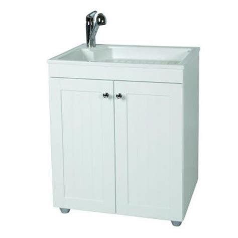 glacier bay utility sink glacier bay 27 in w base cabinet with abs sink in country