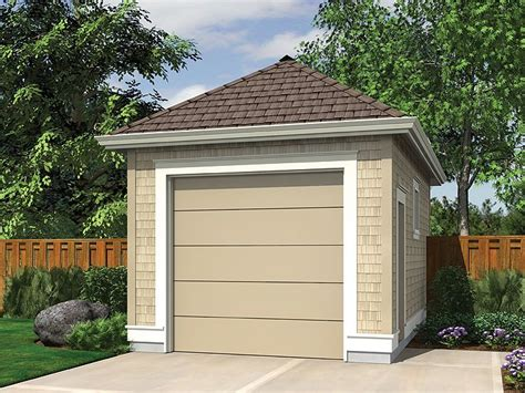 1car Garage Plans  Singlecar Garage Plan # 034g0016 At