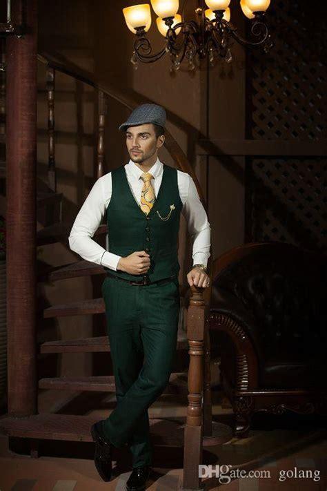dark green custom  black stripe top  style groom
