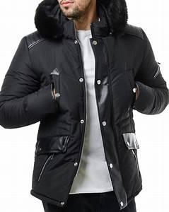 Parka Fourrure Blanche Homme : parka homme noir parka homme noir avec capuche eyro ~ Melissatoandfro.com Idées de Décoration