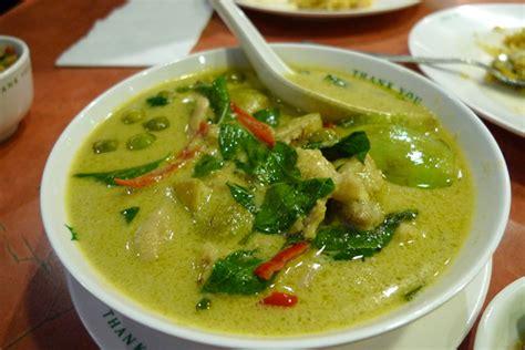 cuisine poulet curry vert