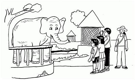 Cara Menggambar Kebun Binatang Poster