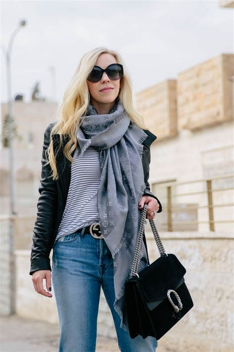 All Season Layered Look With Leather Jacket Straight