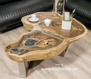Baumstamm Als Tisch : couchtisch baumstamm diy ~ Watch28wear.com Haus und Dekorationen