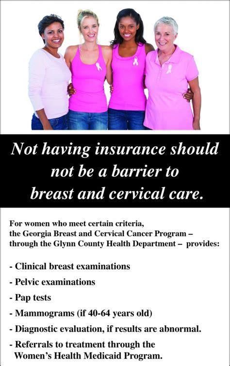 breast  cervical cancer program information georgia