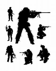 Army silhouettes vector - Vecto2000.com