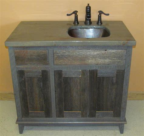 Antique Bathroom Vanity Units by Weathered Gray Antique Barnwood Vanities Traditional