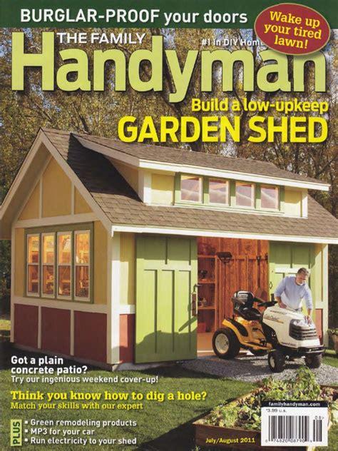 decor fantastic storage shed plans  family handyman
