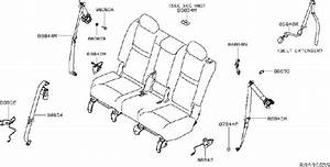 Nissan Rogue Seat Belt Lap And Shoulder Belt  Left  Rear