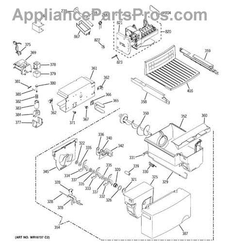 parts  ge gslkgrebs ice maker dispenser parts appliancepartsproscom
