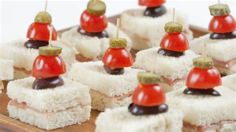 canape s recipe prosciutto canapés with cornichon skewers