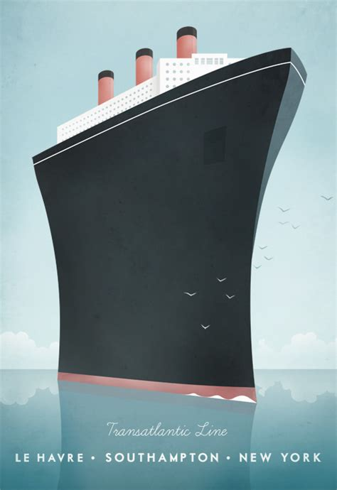 Art Deco Boat Poster by Cruise Ship Vintage Travel Poster Travel Poster Co