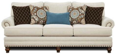 Nailhead Trim Loveseat by Fusion Furniture 2820 Traditional Sofa With Nailhead Trim