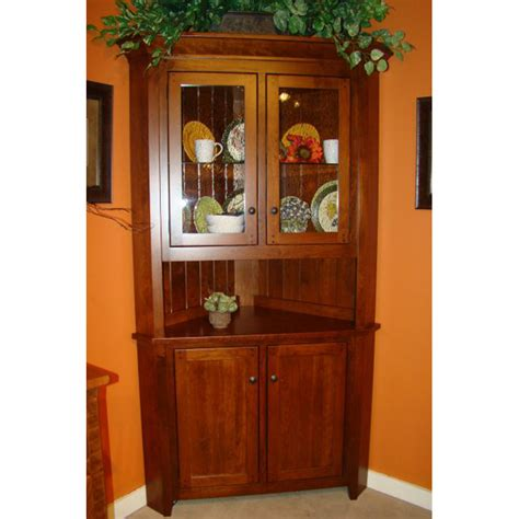 Corner Hutch 07bl011 Mountaineer Furniture Made In Usa