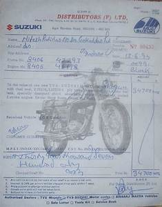 Rare Motorcycle  Purchase Receipts  Invoce  Cash Memo