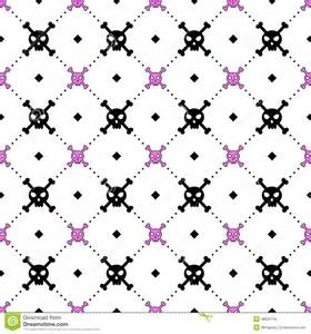 Girly Skull and Crossbones Pattern