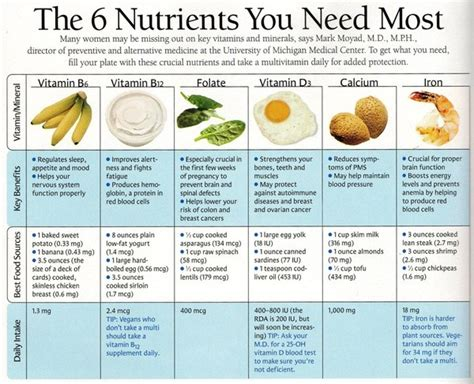 indispensable cuisine chart of nutrients there are many more that are