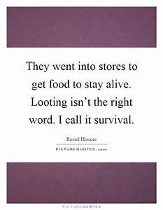 They went into ... Looting Quotes