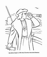 Columbus Coloring Pages Christopher Printable Printables History Clipart Sheets Drawing Activity Ships Sheet Discovery Spyglass Clip Ship Usa Activities American sketch template