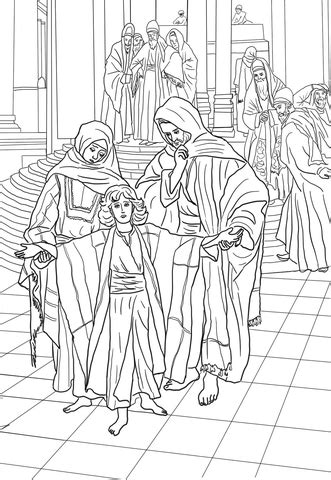 year  jesus    temple coloring page