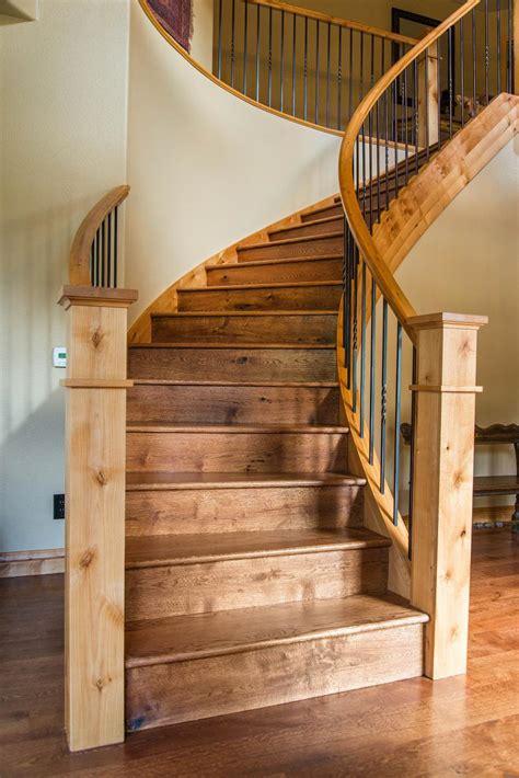 stairs hand rails hardwood flooring colorado ward
